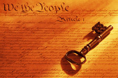 Key to the Constitution Royalty Free Stock Photo