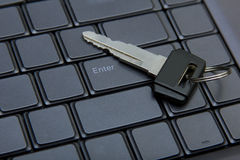 Key to entering a computer. Stock Image