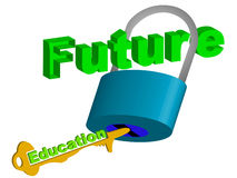 Key to future Stock Image