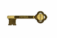 Key to the future. Brass key to the future Royalty Free Stock Photography