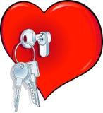 The key to happiness. Heart Royalty Free Stock Photo