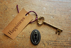 Key to Happiness Stock Image