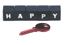 The key to a happy life Stock Images
