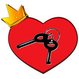 Key to heart. Royalty Free Stock Image