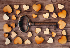 Key to heart Stock Images