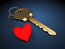 Key to heart Royalty Free Stock Photography