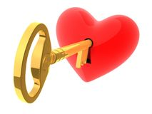 Key to heart Royalty Free Stock Photos