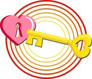 Key to Heart stock photos
