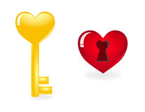 Key to heart. Stock Images