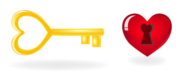 Key to heart. Royalty Free Stock Photo
