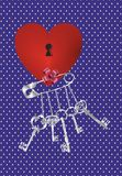 Key to the heart Stock Images