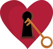 Key To Heart Royalty Free Stock Images