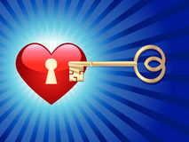 Key to the heart Royalty Free Stock Images
