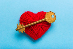 Key to heart and love Stock Photo