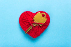 Key to heart and love Royalty Free Stock Image