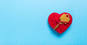 Key to heart and love Stock Photography