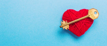 Key to heart and love Royalty Free Stock Photo