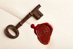 Key to her heart Stock Photography