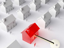 The key to the housing market royalty free illustration