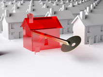 The key to the housing market Stock Image