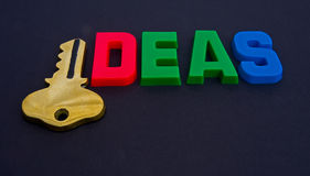 Key to ideas. Royalty Free Stock Photography