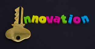 Key to innovation: logo ? Royalty Free Stock Image