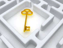 Key to labyrinth Stock Photos