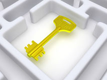 Key to labyrinth. Stock Photography