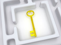 Key to labyrinth. Stock Images