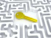 Key to labyrinth. Stock Photo