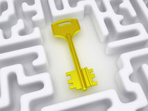 Key to labyrinth. Royalty Free Stock Photos