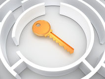 Key to labyrinth Royalty Free Stock Photo