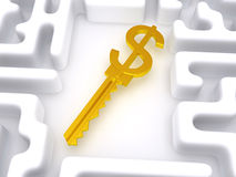 Key to labyrinth Royalty Free Stock Photography
