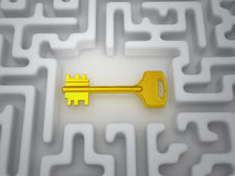 Key to labyrinth Stock Photography