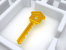 Key to labyrinth Royalty Free Stock Photos
