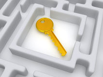 Key to labyrinth Stock Images