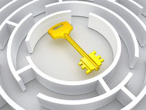 Key to labyrinth Stock Image