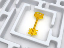 Key to labyrinth Stock Photo
