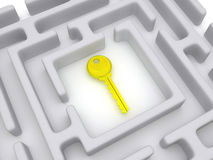Key to labyrinth. Royalty Free Stock Photo