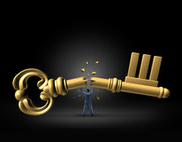 Key To Leadership Stock Images