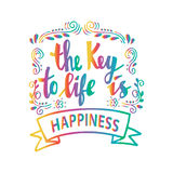 The key to life is happiness. Royalty Free Stock Photo