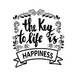 The key to life is happiness. Stock Photography
