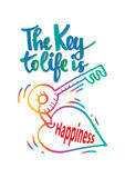 The key to life is happiness. Royalty Free Stock Photography