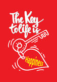The key to life is happiness. Stock Image