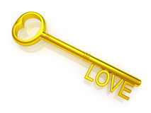 Key to love Royalty Free Stock Image