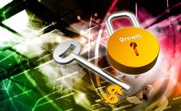 Key to money. Digital illustration of Key to money in colour background Royalty Free Stock Image