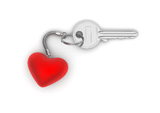 Key to my heart with heart trinket Royalty Free Stock Image