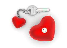 Key to my heart with heart trinket and lock Stock Photo