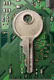 Key to the network protection Stock Image
