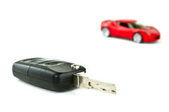 Key to new car Royalty Free Stock Image